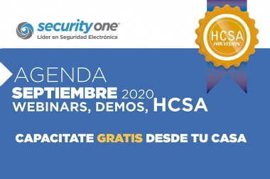 Calendario de capacitaciones de septiembre con Security One